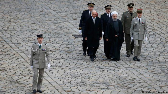 Laurent Fabius Frankreich Iran Präsident Hassan Rouhani
