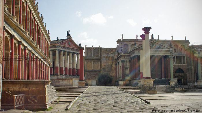 Rom Cinecitta Filmstudio-Komplex Filmset mit Bauten