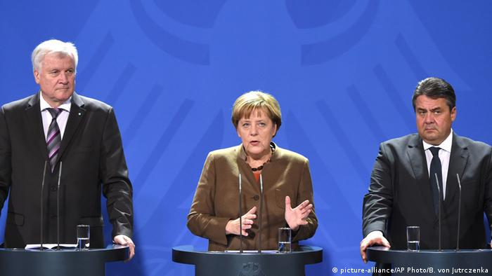 Deutschland Regierungskoalition Seehofer Merkel und Gabriel Symbolbild