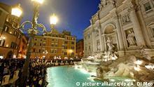 Italien Trevi-Brunnen in Rom
