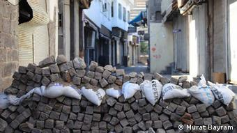 sandbags on a street Copyright: Murat Bayram
