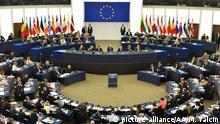 Straßburg EU Parlament Sitzung Übersicht Symbolbild