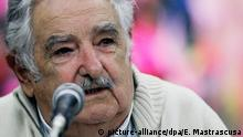 26.1.2016 *** Former Uruguayan President Jose Mujica speaks during a lecture as part of the activities of the literary prize Casa de las Americas in Havana, Cuba, 26 January 2016. The event is one of the most prestigious competitions in the region, being both the oldest competition of its kind on the continent and also the oldest cultural event on the island, this year runs from 18 to 28 January. EFE/ Ernesto Mastrascusa Copyright: picture-alliance/dpa/E. Mastrascusa