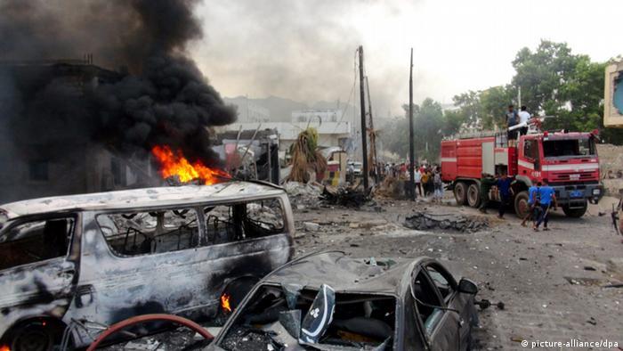 Jemen Aden Präsidentschaftspalast Autobombe