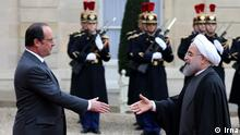 Frankreich Staatsbesuch Paris Hassan Rohani bei Francois Hollande