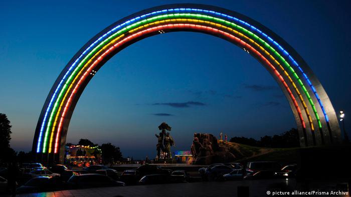 Ukraine Denkmal der Völkerfreundschaft in Kiew