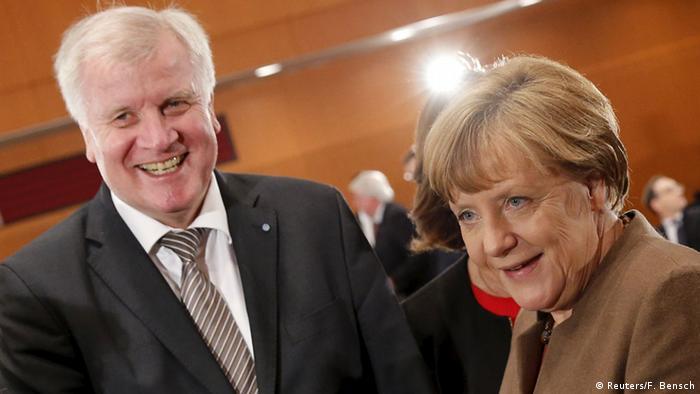 Deutschland Treffen Horst Seehofer Angela Merkel