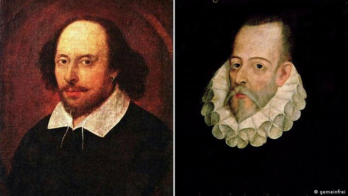 Shakespeare and Cervantes Copyright: Wikipedia (C) gemeinfrei