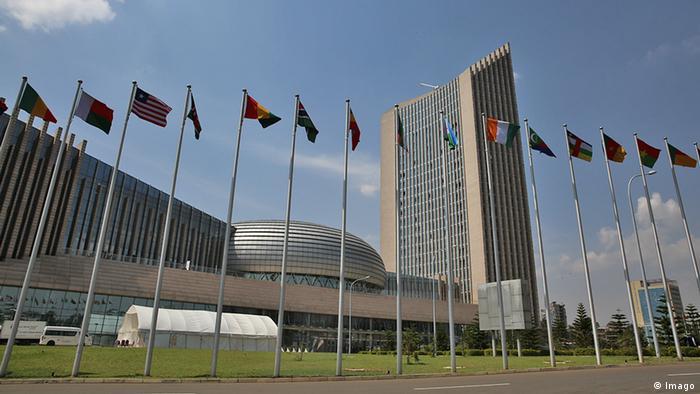 Afrikanische Union Gebäude Außenansicht Äthiopien Addis Ababa (Imago)