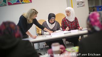 На интеграционных курсах для мигрантов в Германии