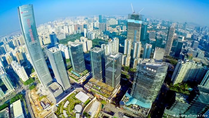 The skyline of Shenzhen city in China