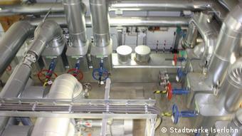 Einblick ins Blockheizkraftwerk (BHKW) der Stadtwerke Iserlohn