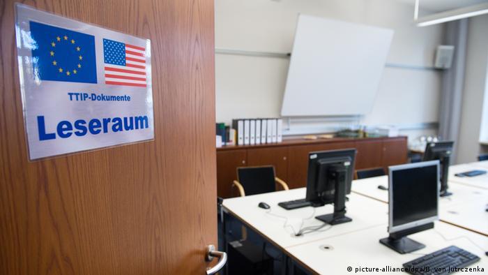 Deutschland TTIP Leseraum für Abgeordnete