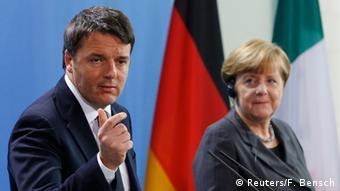 Deutschland Italien Treffen Merkel mit Renzi in Berlin