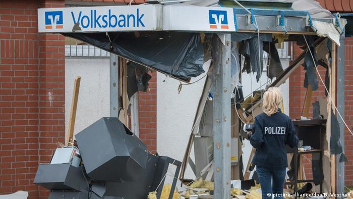 Deutschland Kriminalität Sprengung von Geldautomaten