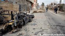Spuren der Gewalt: Straßenszene in Cizre (ArchivbildI)