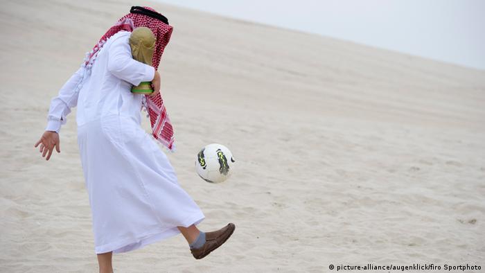 Symbolbild Fußball WM 2022 in Katar (picture-alliance/augenklick/firo Sportphoto)