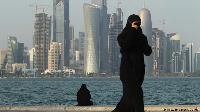 Katar Baustelle Bankenviertel in Doha