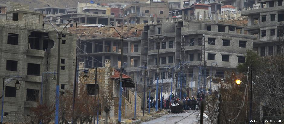 Madaya é uma das cidades que ficou sitiada em meio ao conflito entre forças do governo e rebeldes