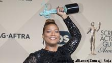 Jan. 30, 2016 - Los Angeles, California, U.S - Actress Queen Latifah, winner of the Outstanding Performance by a Female Actor in a Television Movie or Miniseries award for 'Bessie,' poses in the Press Room of the 22nd Annual Screen Actors Guild Awards held at the Shrine Auditorium in Los Angeles, California, Saturday, January 30, 2016 (c) picture alliance/Zuma/J. Roja