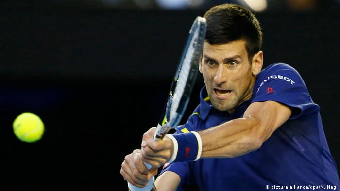 Australian Open Tennis-Turnier in Melbourne Novak Djokovic