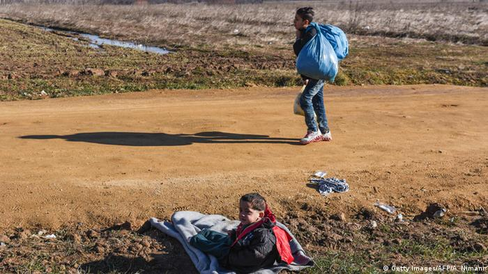 Mazedonien Balkanroute Kinder (Getty Images/AFP/A. Nimani)