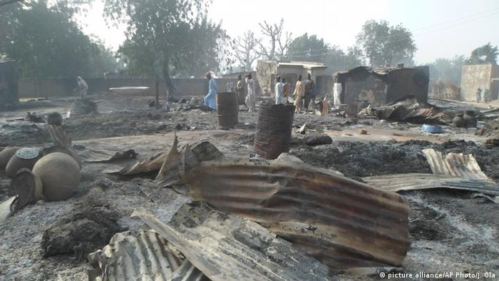 Aftermath of Boko Haram attack on a village