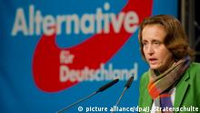 17.1.2016 ARCHIV - Beatrix von Storch, stellvertretende Sprecherin des AfD-Bundesvorstandes, spricht am 29.11.2015 auf dem 4. Bundesparteitag der Alternative für Deutschland (AfD) in Hannover. Foto: Julian Stratenschulte/dpa (zu dpa Beatrix von Storch ist neue AfD-Landesvorsitzende in Berlin vom 17.01.2016) +++(c) dpa - Bildfunk+++ picture alliance/dpa/J. Stratenschulte