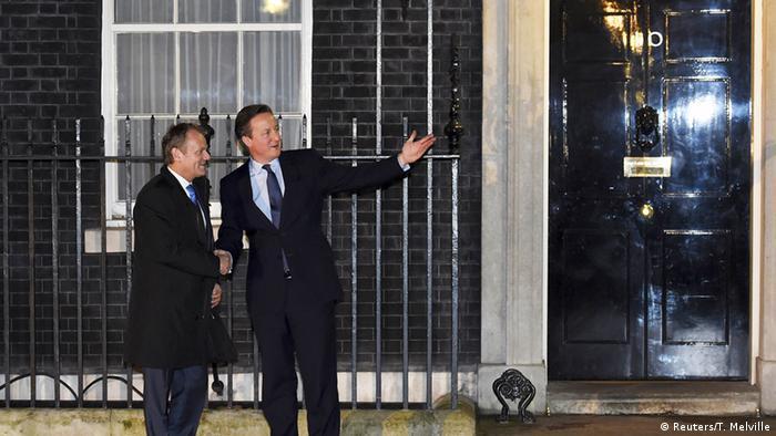 England EU Ratspräsident Tusk bei David Cameron