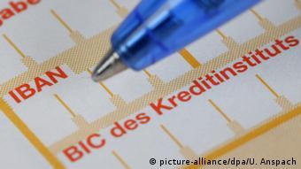 Реквизиты счета в Германии