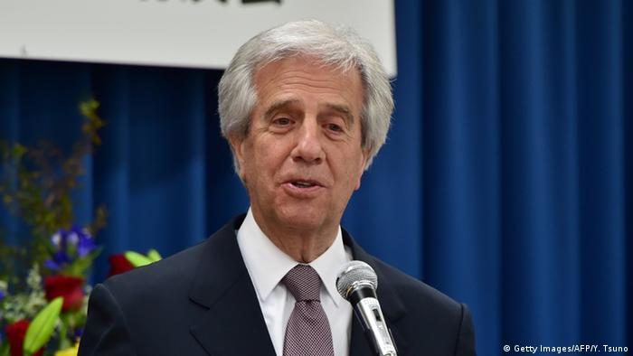 Tabare Vazquez Präsident Uruguays (Getty Images/AFP/Y. Tsuno)