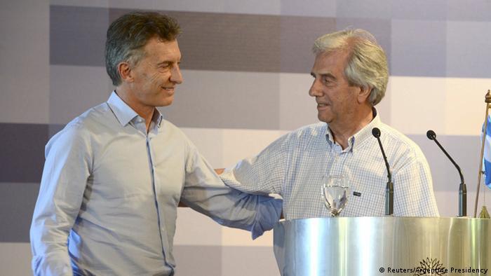Tabare Vazquez Präsident Uruguays mit Mauricio Macri (Reuters/Argentine Presidency)