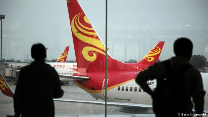Chinesische Fluggesellschaft Hainan Airlines (Getty Images/AFP)