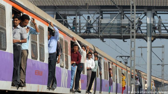 Passengers on a train in India