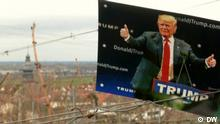 Trump election poster overlooking Kallstadt, Germany, Copyright: DW
