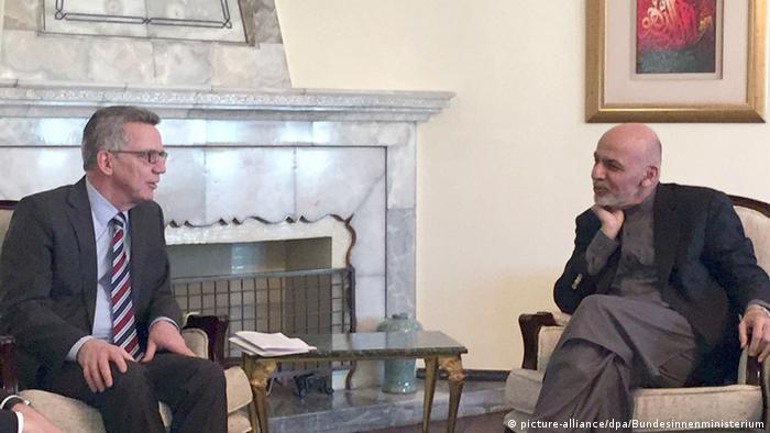 Thomas de Maiziere with President Ashraf Ghani