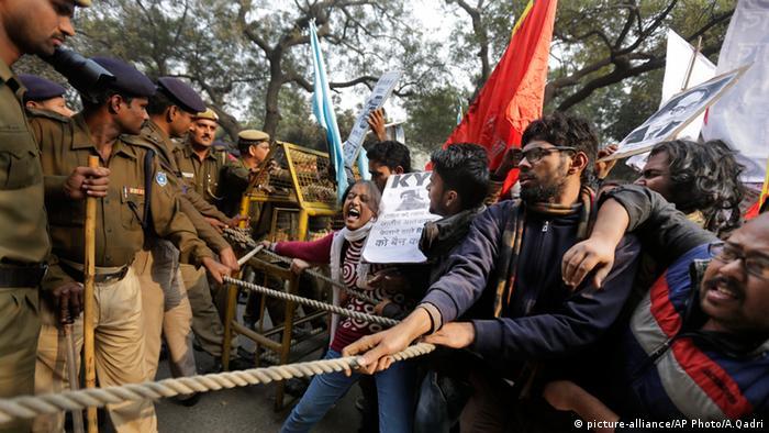 Indien Studenten Proteste Rohith Vemula