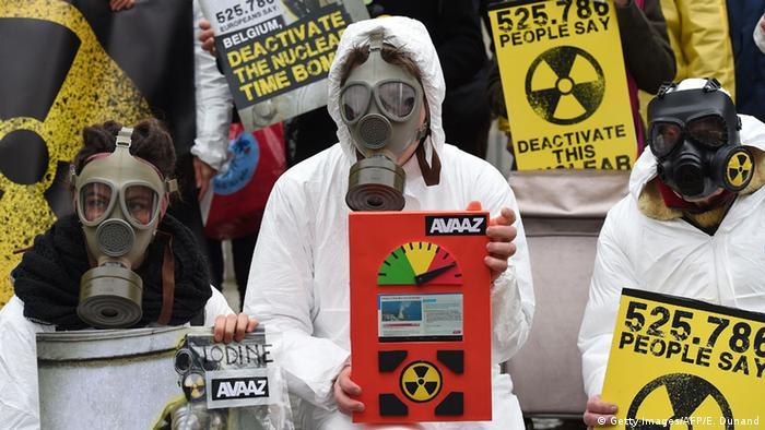 Belgien Brüssel Proteste gegen alte Kraftwerke
