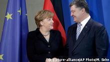 Berlin Poroschenko bei Merkel PK