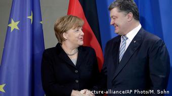 Меркель и Порошенко, Берлин, 2016 год