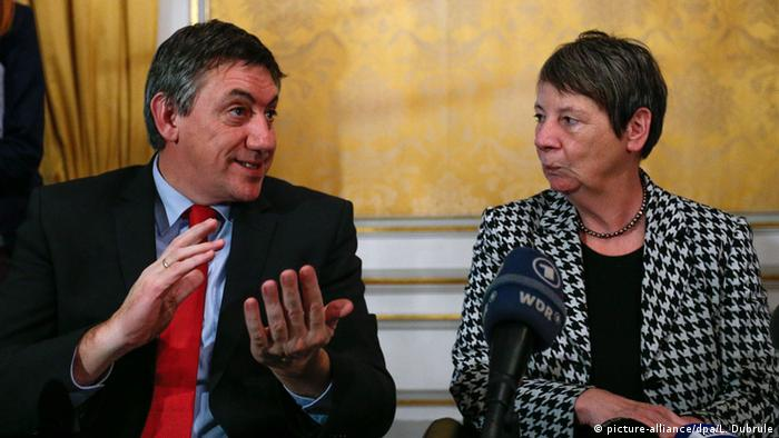 Belgian interior minister Jan Jambon and German environment minister Barbara Hendricks