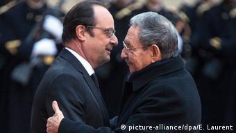 Συνάντηση Ρ. Κάστρο - Φρ. Ολάντ στο Παρίσι τον περασμένο Φεβρουάριο