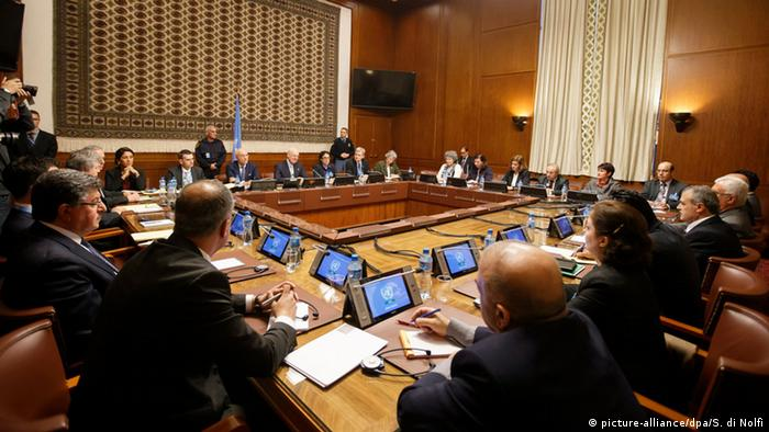 Genf Syrien Konferenz Friedensgespräche (picture-alliance/dpa/S. di Nolfi)