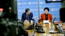 01.02.2016 *** Professor David L. Heymann (L), Chair of the Emergency Committee, and World Health Organization (WHO) Director-General Margaret Chan hold a news conference after the first meeting of the International Health Regulations (IHR) Emergency Committee concerning the Zika virus and observed increase in neurological disorders and neonatal malformations in Geneva, Switzerland, February 1, 2016. REUTERS/Pierre Albouy © Reuters/P. Albouy