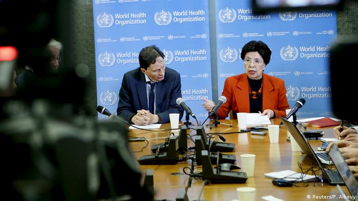 Professor David L. Heymann (L), Chair of the Emergency Committee, and World Health Organization (WHO) Director-General Margaret Chan hold a news conference after the first meeting of the International Health Regulations (IHR) Emergency Committee concerning the Zika virus and observed increase in neurological disorders and neonatal malformations in Geneva, Switzerland (Foto: Reuters).