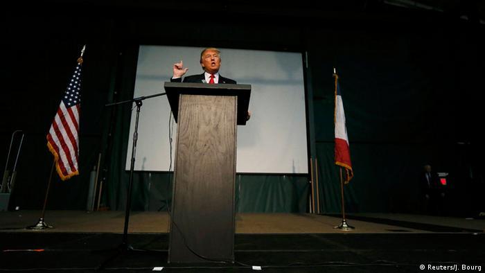 US Wahlen Parteikonferenz in Iowa Caucus Donald Trump