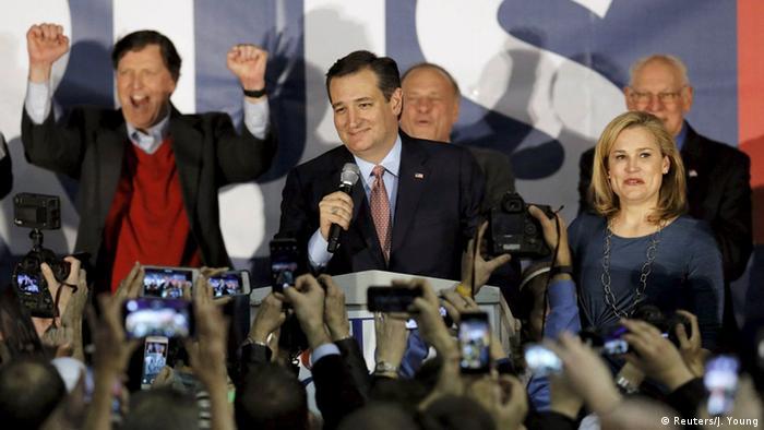 US Wahlen Parteikonferenz in Iowa Caucus Ted Cruz