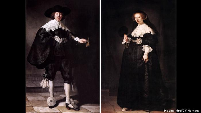 Rembrandt paintings, Oopjen Coppit and Maerten Soolmans, public domain