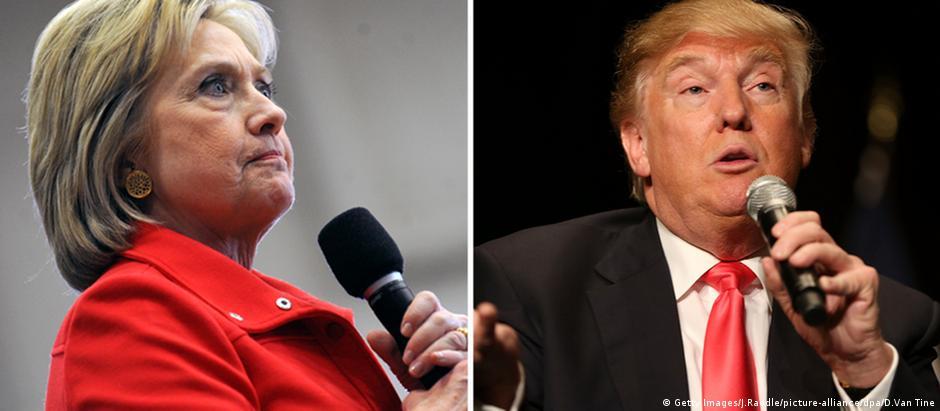 Hillary Clinton e Donald Trump são atuais líderes na corrida à Casa Branca