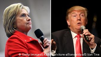 Bildkombo Hillary Clinton Donald Trump USA Präsidentschaftswahlen 2016 (Getty Images/J.Raedle/picture-alliance/dpa/D.Van Tine)